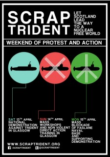 Take action to Scrap Trident on 13-15 April